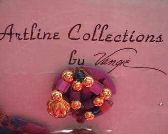 Vintage Collectable 7pc Artline Collections by Vangie Hansen. Button Covers and Earrings Set. Signed by Artist. Only 1 Available!