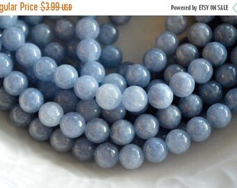 SUPER SALE 6mm, Aquamarine Beads, Light Blue Gemstone Beads, Blue Stone Beads, Hole 1mm, 16 beads, Genuine Aquamarine Quartz Gemstone