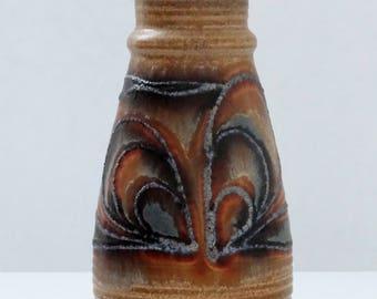 Jasba Mid Century Ginger & Fat Lava Abstract West German Vase