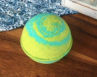 Fizzy Pop Bath Bomb Effervescent Lime Fruity Floral Bomb Natural Handmade Bath Fizzy - Valentines Day Gift