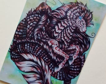 Grand copperfin # Laminated ACEO Print
