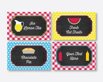 Instant Download Editable Picnic Food Labels Picnic Food Tags Picnic Buffet Card  sc 1 st  Etsy & Picnic food labels | Etsy