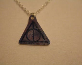 Deathly Hallows Watercolour Necklace