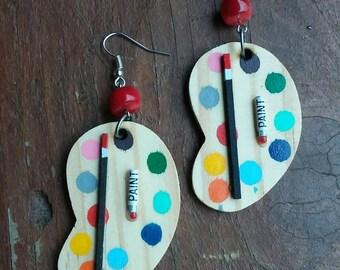 Artist Life Earrings, Artist Earrings, Artist Jewelry, Painters Earrings