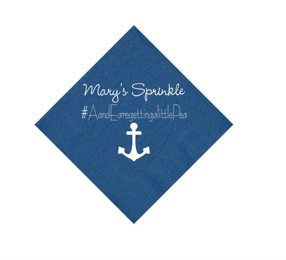Anchor baby shower napkins