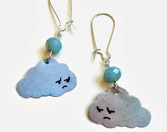 earrings rainy clouds * paper earrings