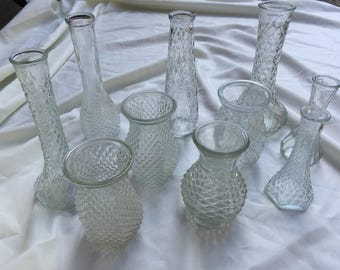 Lot of 10 bud Vases