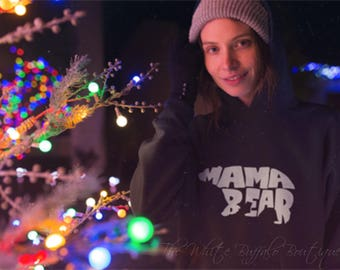Mama Bear Hoodie, Momma Shirt, Womens Mom Life Shirt, Mommy and Me Shirts, New Mom Gift, Super Soft Tee, 8 colors to choose from