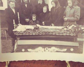Eastern European Vintage Postmortem Photograph