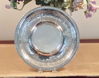 Art Deco Silverplate 10 Inch Tray or Platter by The Hartford Sterling Company