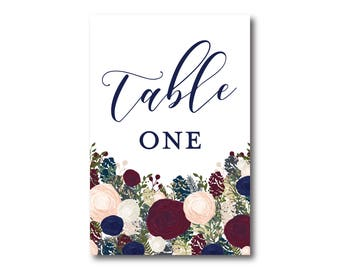 Printed Table Numbers, Table Number Card, Printed Table Numbers, Wedding Table Numbers, Table Number Sign, Reception Table Number #CL137