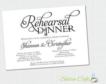 Rehearsal Dinner Invitation {Printed and Shipped}