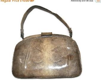Summer Sale 1930's Lizard Skin Handbag // Vintage Handbag // Unusual vintage bag