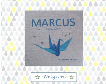 "Canvas 20 x 20 cm pattern ""Origami"""