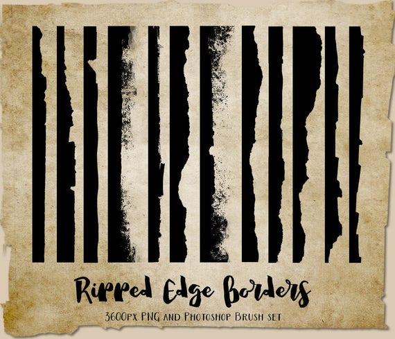 Ripped Edges Photoshop Brushes Distressed Grunge Borders