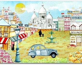 Original Paris 15 cm x 21cm greeting card
