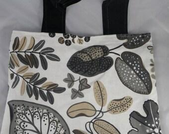 Sac012 - large white, grey and beige tote bag
