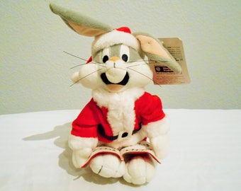 "RARE Warner Brothers Bugs Bunny Singing ""All I Want For Christmas Is My Two Front Teeth""/Retired In The 90's It Still Works! New With Tags!"