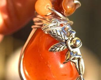Fairy carnelian pendant