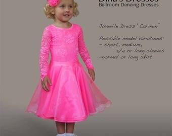 "Juvenile Ballroom Dancing Dress ""Carmen"""