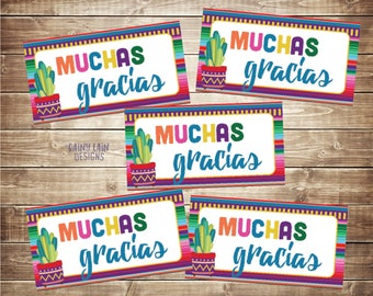 Fiesta Favor Tags, Muchas Gracias Tag, Muchas Gracias, Favors, Mexican Fiesta, Cactus Tags, Baby Shower, Birthday, Wedding, Instant Download