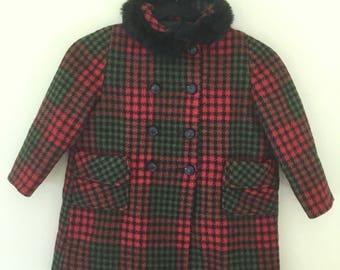 Vintage Girls Wool Coat