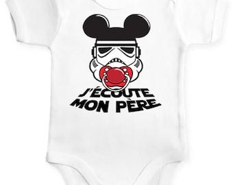 Star Wars geek baby Bodysuit. Geek gift idea