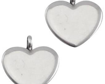 """DQ Metal Pendant """"cardio""""-2 pcs.-Color selectable (colour: silver)"""