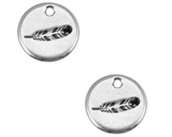 DQ Metal Pendant-spring-1 PC-Zamak-color selectable (color: silver)
