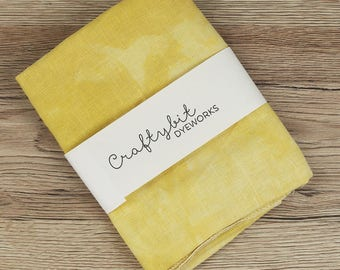 36ct Hand-dyed Zweigart Linen - Mustard
