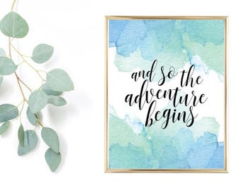 And so the adventure begins (watercolor digital print)