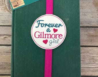 GILMORE GIRLS BOOKMARK! Elastic bookmark. Forever Gilmore. Embroidered bookmark. Perfect for books, bibles, planners, journals, and more!