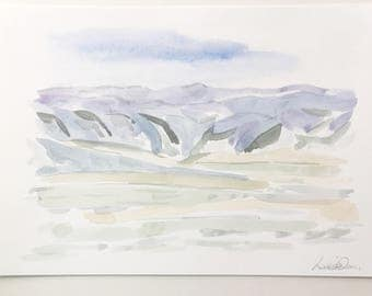 Original Watercolor Artwork of New Mexico by Louise Dean