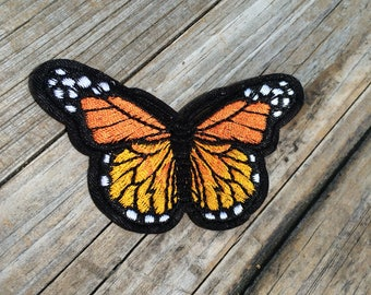 Butterfly Patch, Vintage style Embroidered Patch, Insect Patch, Animal Patch, Applique Iron On Patch, Gifts for her, gifts for him, Patches