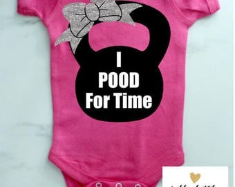I POOD For Time Baby Bodysuit
