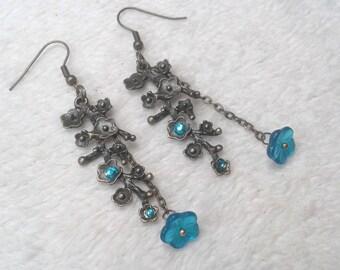Turquoise drop earring Sakura