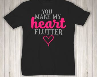 You Make My Heart Flutter - Valentines Day - Cute - Infant/Toddler/Youth Shirt