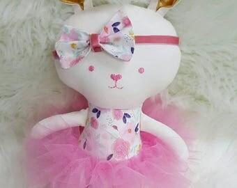 Bunny. Softie. Plushie. Tutu. Handmade.