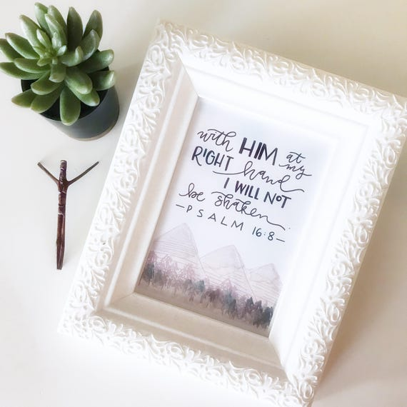 Catholic Print * Catholic Home Decor * Christian Home Decor * Watercolor & Handlettered Print * Scripture Art