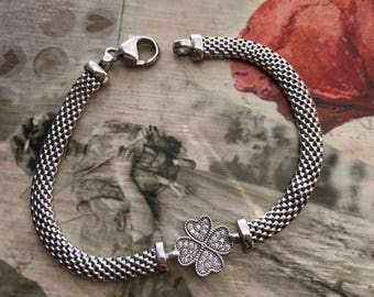 Italian Sterling Silver Lucky Charm Bracelet