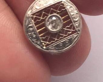 Beautiful Antique White Gold Diamond Necklace