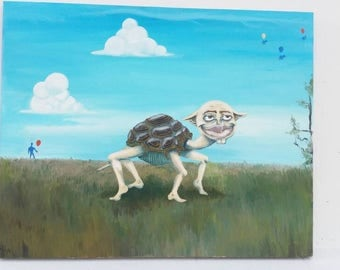 Valentino le Tortue - Oil Painting 16x20