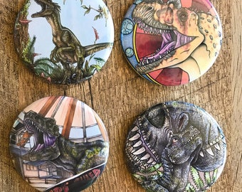 Jurassic Park / Dinosaur Assorted Pins and Magnets
