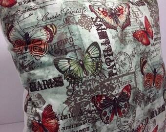 Throw Pillow Accent Pillow Toss Pillow Paris Butterfly Butterflies Teal Group One Home Decor Bedding
