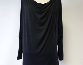 Special price. Casual soft black bamboo blouse, XL size.