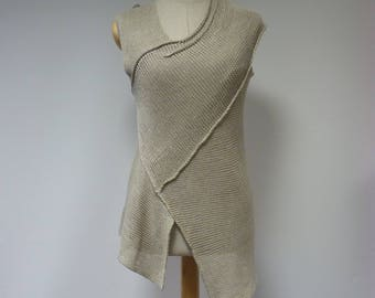 Special price. Taupe linen top, M size. Made of pure linen.