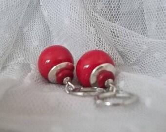 "PB1 - earrings ""Balls"" Oleron pearls"