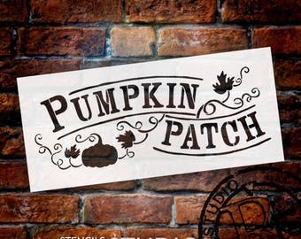 Pumpkin Patch - Hand-Drawn Vines - Word Art Stencil - Select Size - STCL1454 by StudioR12