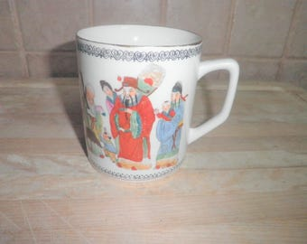Vintage Hand painted decorative coffee mug