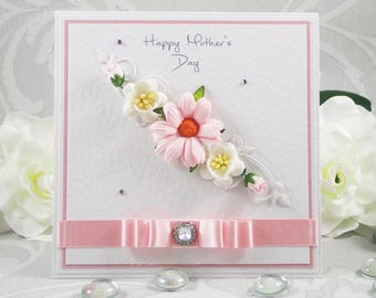 Handmade Mother's Day Card, Mother's Day Card, Mothering Sunday Card, Mothers Day Card, Card for Mum, Card for Mom